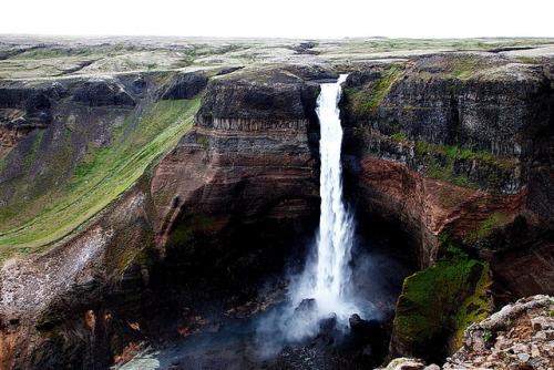 fanttasia:  Háifoss by golfari63 on Flickr.