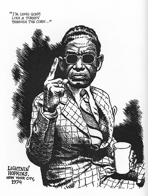 rootsnbluesfestival:  lightnin' hopkins by robert crumb