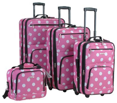 Found this Rockland Luggage Dots 4 Piece Luggage Set in amazon. It's worth $79 This set is perfect for the serious and experienced traveler manufactured with the very best heavy duty polyester and pvc backing, this cute luggage set is designed for the traveler on the go and comes with three expandable uprights and a flight tote bag.