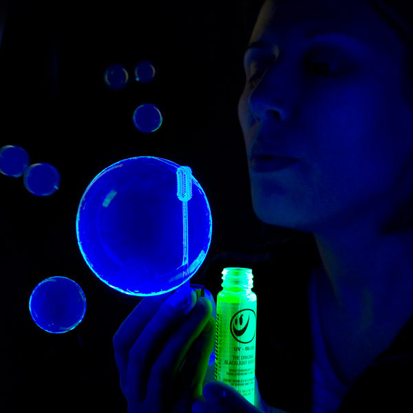 wilwheaton:  laughterkey:  ianbrooks:  Black Light Bubbles Available at thinkgeek for $3.99, these black light bubbles are perfect for your next underground rave, pacifiers not included.  I am the coolest aunt.  THIS. CHANGES. EVERYTHING!