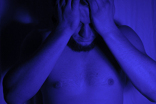 Blue Self-portrait, Despondent (by Kevin A. Slotemaker)