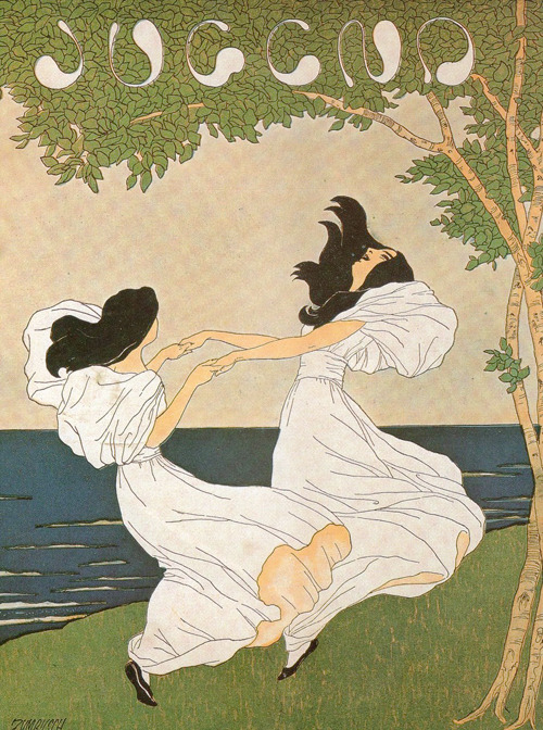 the young lovers 11. Ludwig von Zumbusch, cover for Jugend (No. 40), 1897