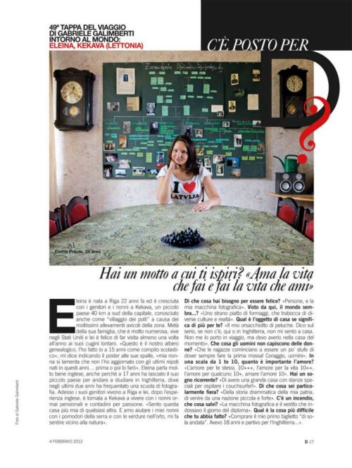 i dont understand italian,if you do, can read my little funny interview with interesting questions:) i have somewhere saved the english version :D photographer, traveller with his couchsurfing project : gabriele galimberti