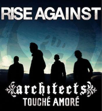 In between their monstrous two-leg US tour with A Day To Remember, Rise Against are squeezing in a trip across the pond. Their European tour just kicked off this week with Architects and Touche Amore. How's that for an awesome lineup? You can check the dates below. 03/01 Dortmund, GER – Westfalenhalle03/02 Stuttgart, GER – Schleyerhalle03/03 Berlin, GER – Arena03/05 Arhus, DEN – Vox Hall03/06 Stockholm, SWE – Arenan03/07 Oslo, NOR – Sentrum Scene03/08 Helsinki, FIN – The Circus03/09 Helsinki, FIN - The Circus 03/10 Turku, FIN – Logorno03/15 Warsaw, POL – Stodola03/16 Prague, CZE – Incheba Arena03/18 Leipzig, GER – Arena03/19 Budapest, HUN – Symna Hall03/20 Vienna, AUT – Stadthalle