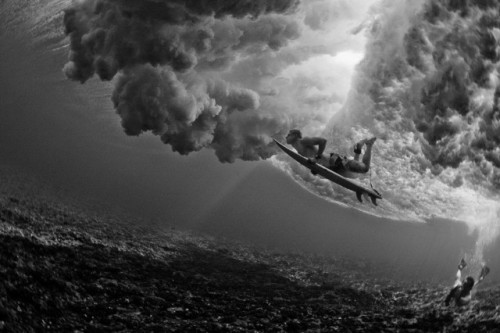 islandinsight:  National Geographic. Photographer: Brian Bielman. Surfer: Donovan Frankenreiter. Who's to say this existence is purely based on science? It is not fair to the ocean to believe it was created just because. It is not enough for me to love something so real & tangible without acknowledging the untangible & raw creator for whom I am gratefully indebted to. Marvel at water. trust in the tides.