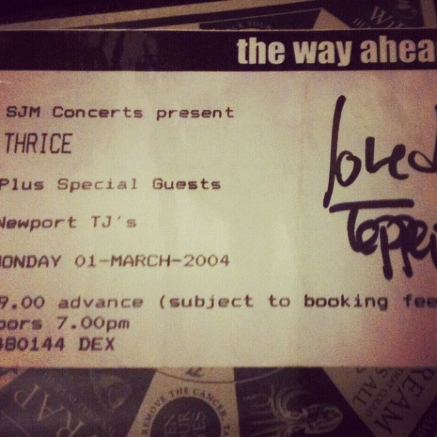 It's been 8 years today since we first saw Thrice live what an epic gig that was….really going to miss those guys…