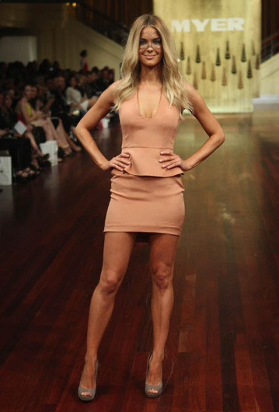 Australia's best Australian chain Myer has shown  its autumn–winter 2012 collections at the Myer Mural Hall in Melbourne  tonight, with ambassadors Jennifer Hawkins (Miss Universe 2004), Jessica  Hart, and Kris Smith. Photographed by Lucas Dawson. Full story and more photographs here.