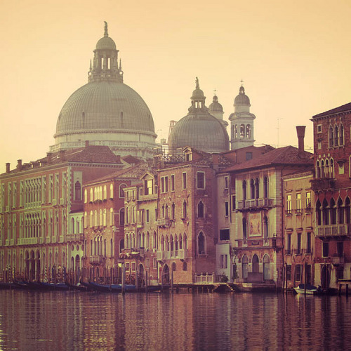 | ♕ |  Venice at dawn - San Marco, Grand Canal  | by © Irene Suchocki