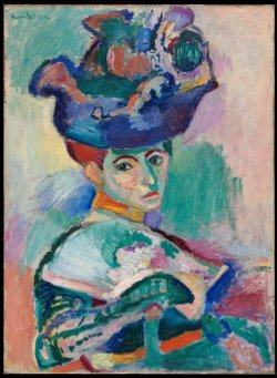 Henri Matisse - Femme au chapeau (Woman with a Hat), 1905. Oil on canvas