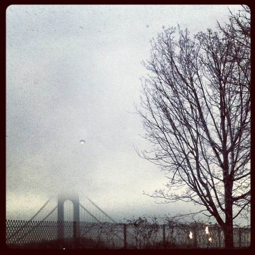 #verrazano #ny #fog #clouds #morning #beautiful #instagram #igdaily #ig (Taken with instagram)