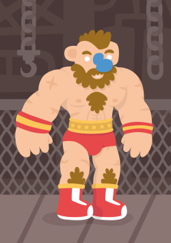 "eatsleepdraw:  #2- Zangief ""The Red Cyclone"" by Emo Díaz.More of my work at www.friendswitheyes.tumblr.com <3<3"