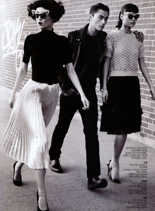 Vogue China : March 2012 models: Wang Xiao, Lily Zhi & Zhao Lei photographer: Lincoln Pilcher