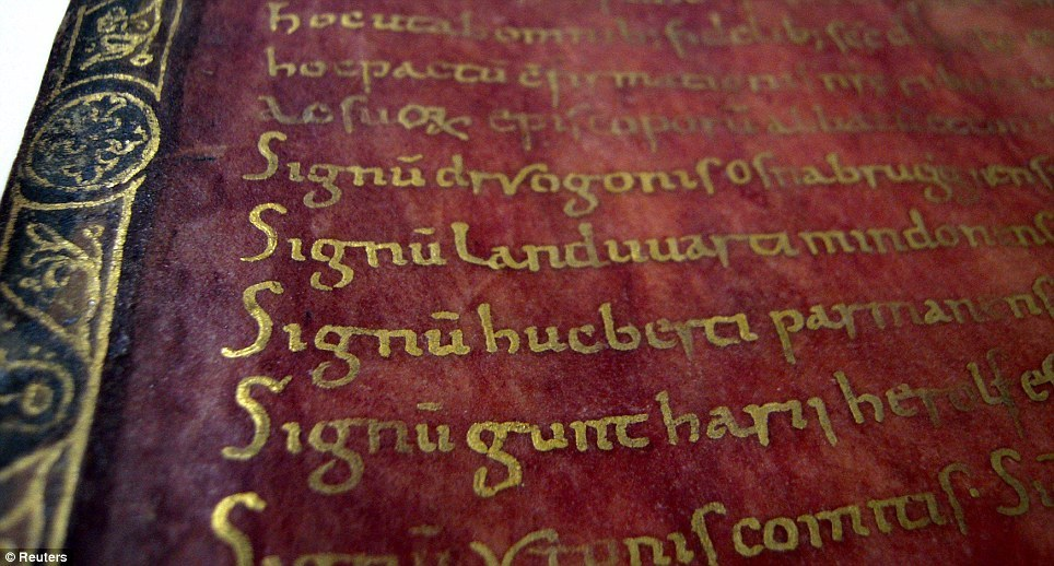 Written in gold on a purple parchment, this privilegium was granted by Roman Empereror Otto I The Great in the 10th century