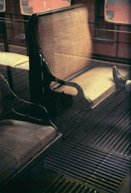 "© Saul Leiter, 1954, Foot on El, New York This photograph is part of the exhibition Saul Leiter - New York Reflections at the Jewish Historical Museum Nieuwe Amstelstraat, Amsterdam. Exhibition dates: Oct. 24, 2011 - Mar. 4, 2012 ""I must admit that I am not a member of the ugly school. I have a great regard for certain notions of beauty even though to some it is an old fashioned idea. Some photographers think that by taking pictures of human misery, they are addressing a serious problem. I do not think that misery is more profound than happiness."" (Saul Leiter) » find more exhibitions here «"