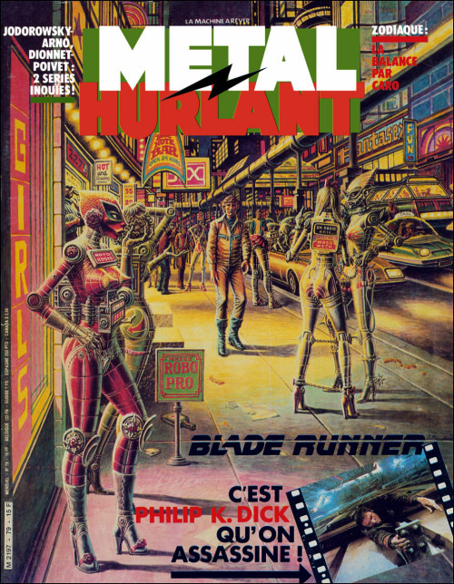 mechatari:   Metal Hurlant #79 - Septembre 1982 - Couverture par Ralph Reese Why doesn't midtown look like this yet?