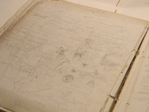 19th Century Doodles drawn by Mathias Richards in 1862-63 - Found approx 9pm in Special Collections