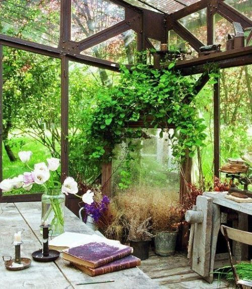 Romantic greenhouse or potting shed (via (2) Touch of Elegance Interiors)