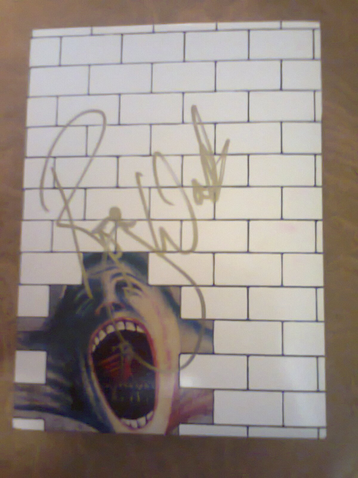 The Wall autografiado por Roger Waters :D
