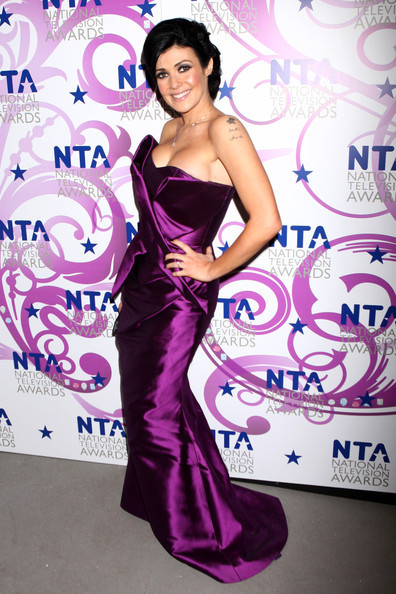 Kym Marsh purple dress