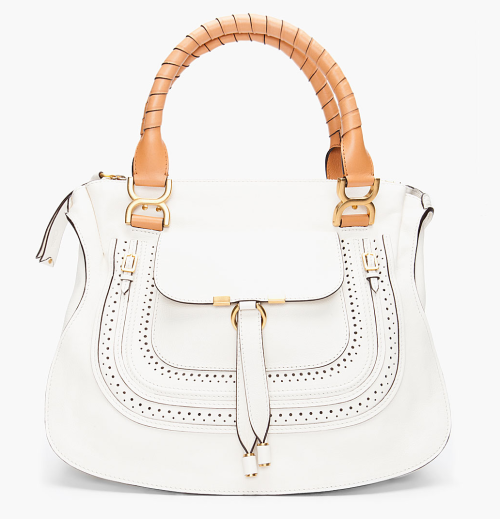 what-do-i-wear:  CHLOE // WHITE MEDIUM MARCIE HOBO