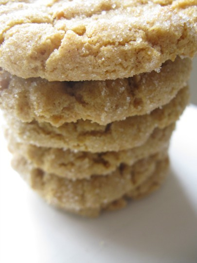 Healthy Peanut Butter Cookies No butter, no flour peanut butter cookies! Substitute splenda or truvia for the sugar, and you've got a low carb cookie!