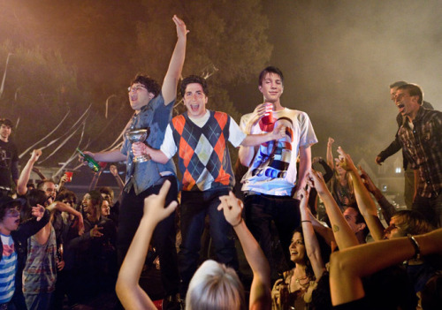 "Project X - a review. Oooookay. Saw this movie last night, and I must say, I was kind of excited for it. I was really looking for a good, mindless party movie. No harm no foul. However, this movie was so unbelievably destructive; it almost ruined it for me. Besides the stress that comes with hosting an out of control party at your house (something I have done many times, sorry mom), this movie was fueled with all sorts of teenage debauchery mixed with a head full of Christmas gnome ecstasy. And to top it all off, the movie still managed to push the limit and go completely overboard when a flame-thrower wielding, ex-military, drug dealer decides to crash the party (and the neighborhood). It was a pretty stressful ride…BUT, I must say that the soundtrack was pretty solid. With everything from the trailer music ""Pursuit of Happiness"" (Kid Cudi, Steve Aoki remix) to the Yeah Yeah Yeah's, to Nas, to (my favourite) Snoop Dogg and Dr Dre's ""Next Episode."" And when all goes to shit, throw in some death metal to reflect the sheer chaos. See below for the track listing! All in all, the movie is a good time, but I probably won't watch it again.  1. Trouble On My Mind – Pusha T2. Bitch Betta Have My Money – AMG3. Tipsy (Club Mix) – J-Kwon4. Candy (feat. Pitbull) – Far East Movement & Pitbull5. Ray Ban Vision – A-Trak6. Le Disko (Boys Noize Fire Mix) – Shiny Toy Guns7. Nasty – Nas8. Pursuit of Happiness (Steve Aoki Dance Remix) – Kid Cudi9. Heads Will Roll (A-Trak Remix) – Yeah Yeah Yeahs10. Pretty Girls (Benny Benassi Remix) – Wale11. The Next Episode – Dr. Dre & Snoop Dogg12. Fight Music – D1213. Wild Boy (Ricky Luna Remix) – MGK KB"