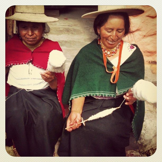 Faces of Ecuador- Making String