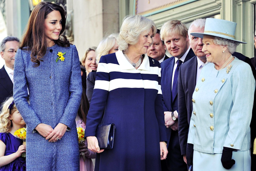 From left to right: Catherine, the future queen, Camilla, someone who dreams of being queen,but never will be and Elizabeth, the Queen. - London, March 1st, 2012.