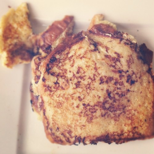 #first #attempt #cooking #french #toast i must admit, they were quite good (Taken with instagram)