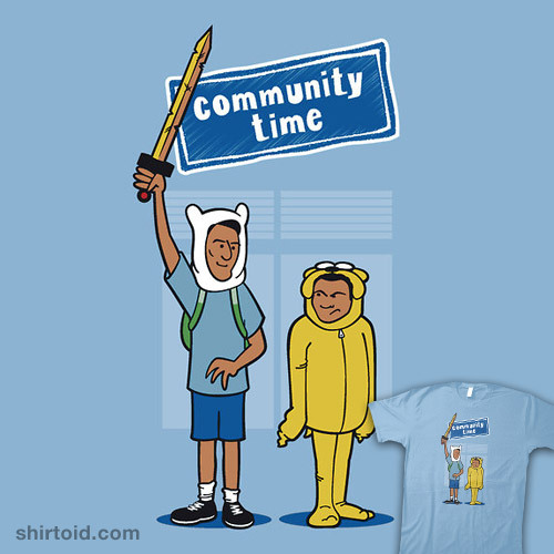 shirtoid:  Community Time! available at RedBubble