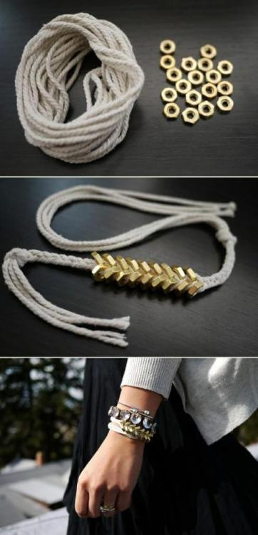 Nut and Strings Bracelet (via allaboutjaz.wordpress.com)
