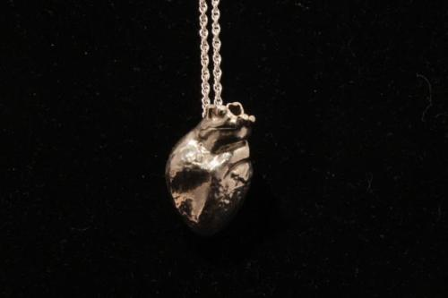 Real Heart Hollow by cadop 3D Printed in Sterling Silver by Shapeways)