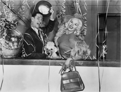 simply-divoon:  Jayne Mansfield and Tony Randall from Will Success Spoil Rock Hunter? (1957)  This is a rather pleasant movie.