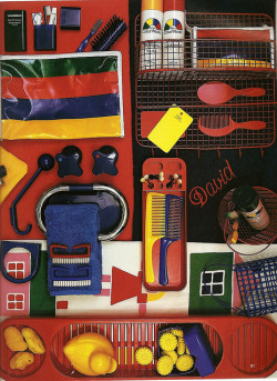 Colourful Bath Accessories, 1980s