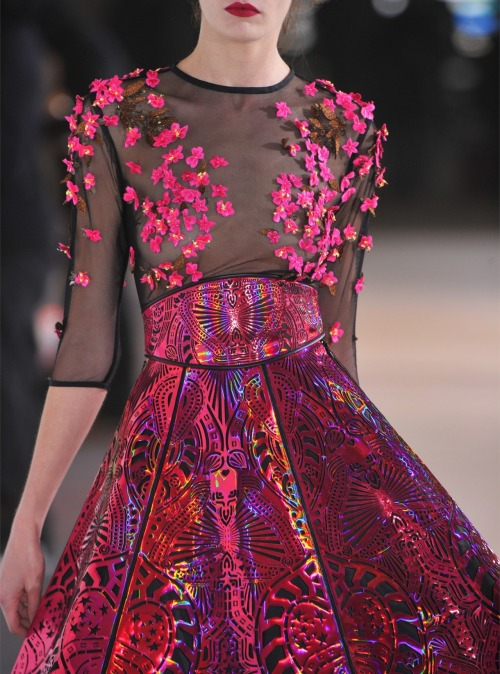 Manish Arora Fall 2012 Runway Details