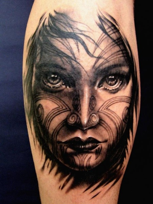 Tattooed Face by Matteo Pasqualin