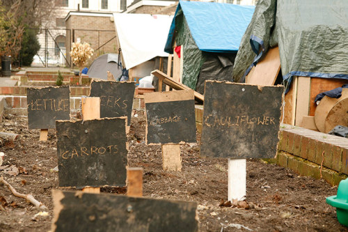 Photos from the last remaining Occupy camp in London - Finsbury Square