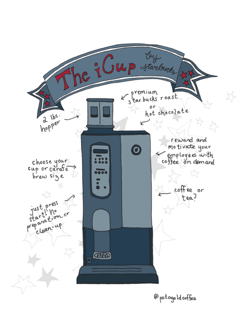The Starbucks iCup, one of the many great machines we supply!