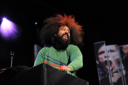 earwolf:  Reggie Watts at TED2012  He mixes together almost-sense phrases with looped beatboxing, and bits  of song to create an experience that is hilarious and profound — yet we  have no idea quite what's funny, or quite why we're moved by it.  Check out Reggie on the latest episode of Comedy Bang! Bang! Photo: James Duncan Davidson  I love you.