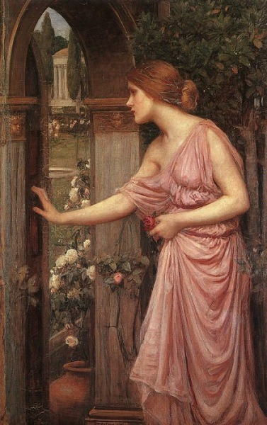 John William Waterhouse Psyche Opening the Door Into Cupid's Garden 1904