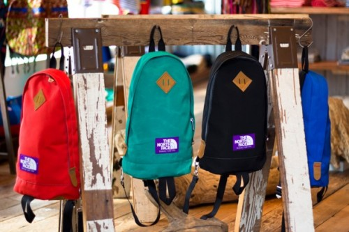 North Face Purple Label - Spring/Summer 2012 Bag Collection So it wasn't that long back when i posted a sneak peak at the new jackets from the North Face Purple Label spring/summer 2012. These bags follow the traditional backpack with a twist of one shoulder and the colours used are bright for the summer making them a bit of fun.