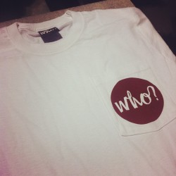 merchasylum:  Who Clothing Cranberry Pocket Logo Tees #screenprint #merchasylum #screenprinting #cardiff #whoclothing  (Taken with instagram)