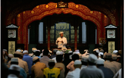 A scholar giving sermon