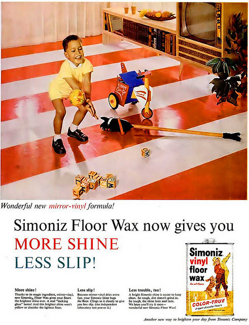 old-ads-and-mags:  Vintage Floor Wax Advertisement, 1960