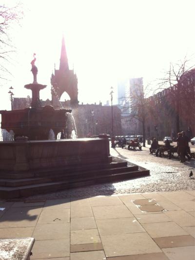 It was a lovely day out in Manchester today.