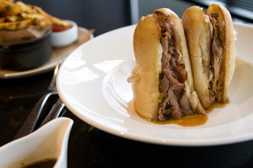 Best Restaurants 2012: All this week, we've been bringing you Chicago's best restaurants. Now it's time for 'best bites,' some of the tastiest dishes the city has to offer. What's your best Chicago bite? Photo: Italian beef at Michael Jordan's — Stuffed with luxe, prime rib eye,  cured and lightly smoked, this is the Michael Jordan of Italian beef  sandwiches. Credit: Erik Unger