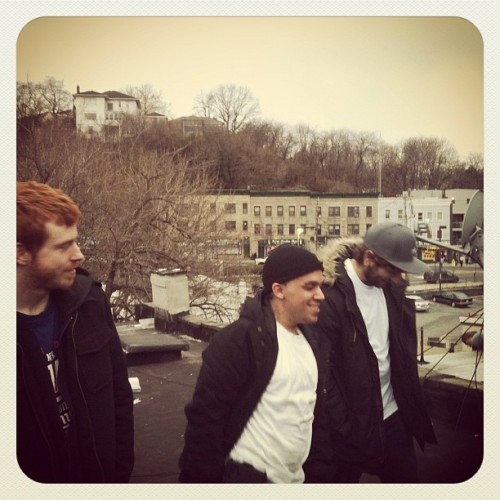 garynievesjr:  Percussion crew on the roof! Steve Alex and Ruben