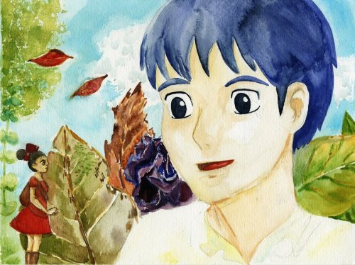 "Here is my completed fanart for ""The Secret World of Arrietty""Medium: Watercolor"