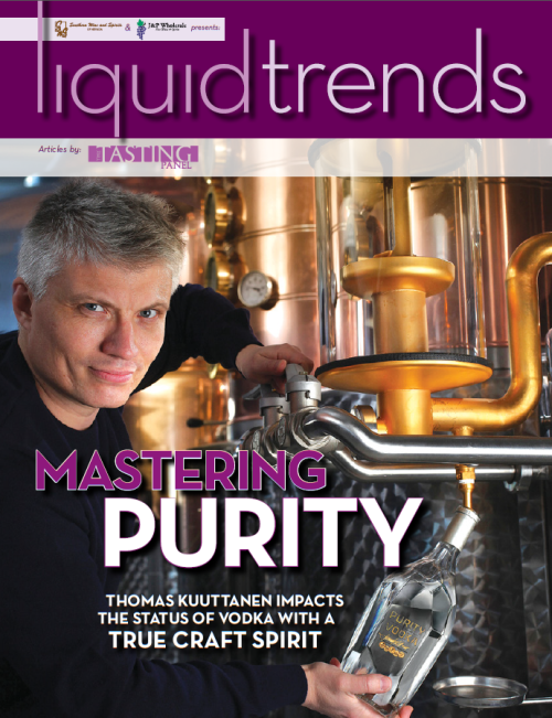 In the March issue of Liquid Trends, we sit down with Thomas Kuuttanen of Purity Vodka and Chuck Miller of The Original Moonshine, two men as different as different can be. Cheers!