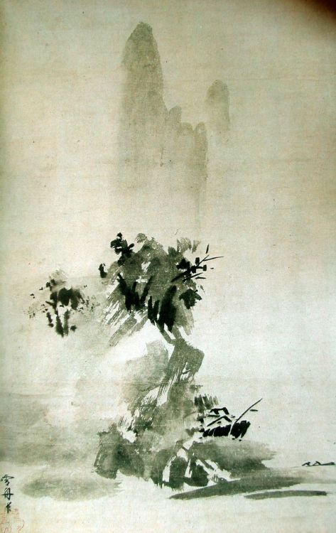tuanrf:  Sumi-e painting by Sesshu Toyo (1420 - 1506)
